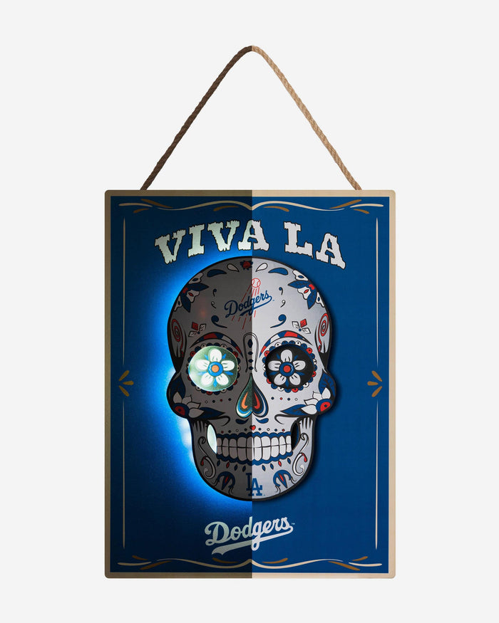 Los Angeles Dodgers Day Of The Dead LED Sign FOCO - FOCO.com
