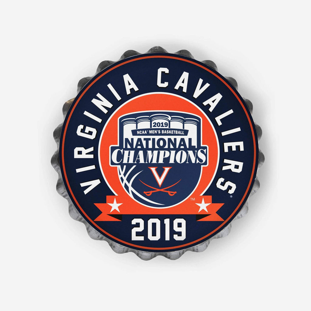 Virginia Cavaliers 2019 NCAA Mens Basketball National Champions Bottle Cap Wall Sign FOCO - FOCO.com