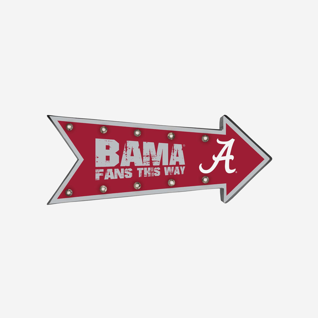 Alabama Crimson Tide Arrow Marquee Sign