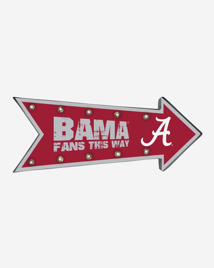 Alabama Crimson Tide Arrow Marquee Sign FOCO - FOCO.com
