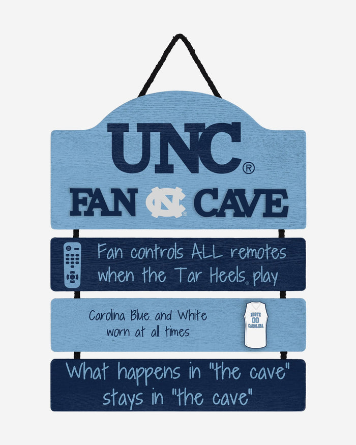 North Carolina Tar Heels Mancave Sign FOCO - FOCO.com