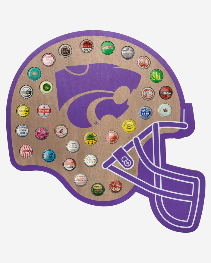 Kansas State Wildcats Push Bottle Cap Wall Sign FOCO - FOCO.com
