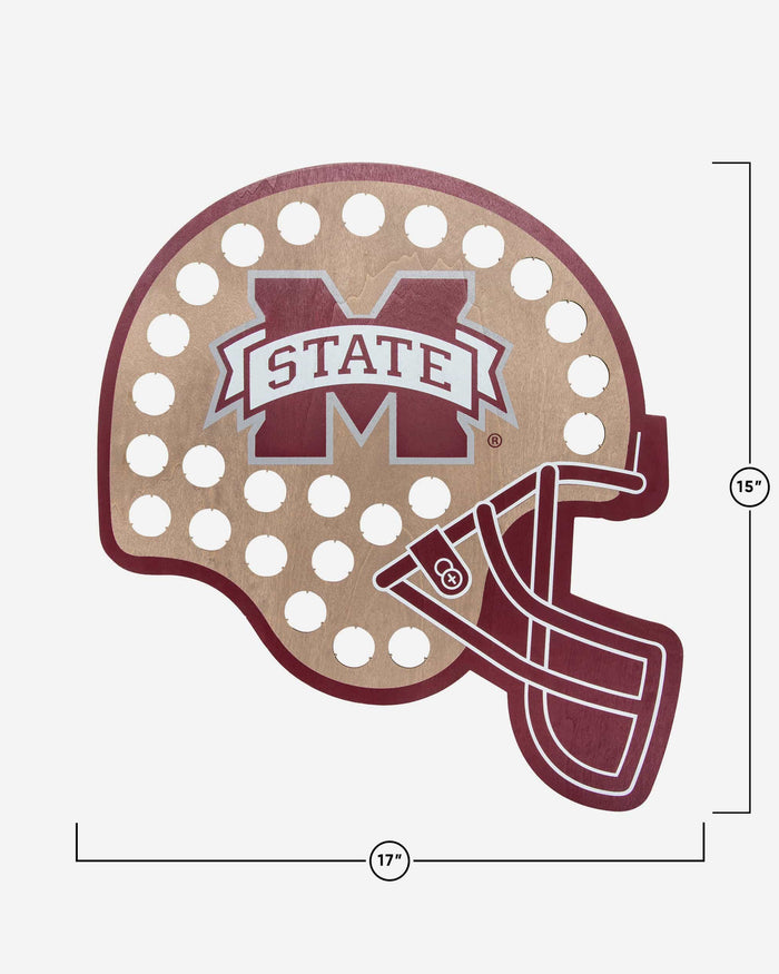 Mississippi State Bulldogs Push Bottle Cap Wall Sign FOCO - FOCO.com