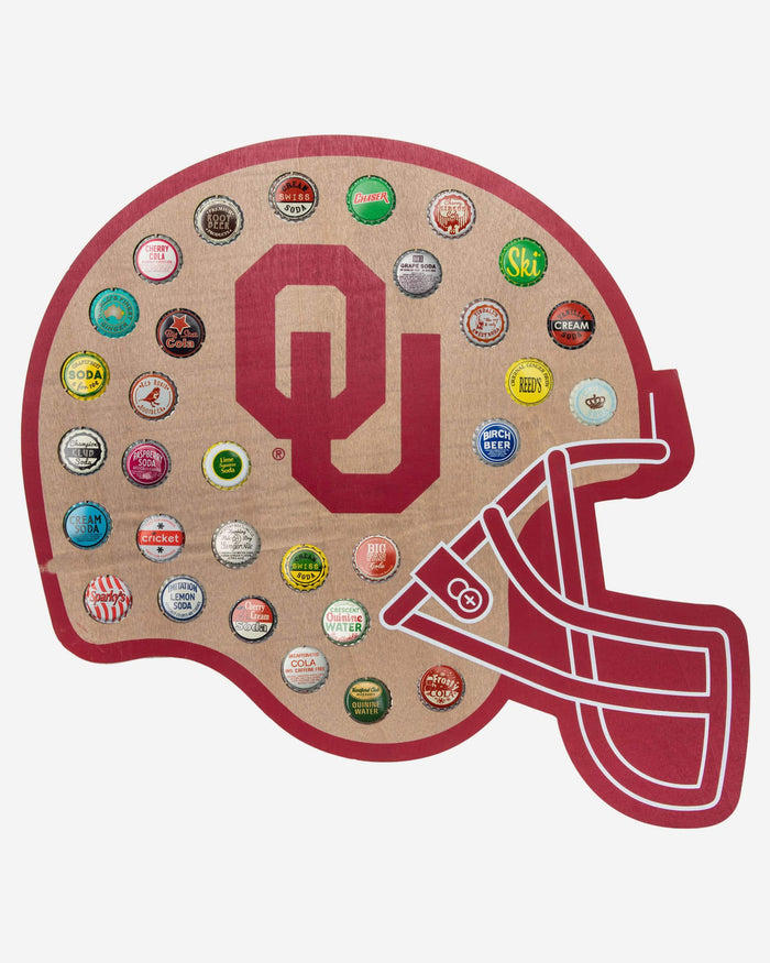 Oklahoma Sooners Push Bottle Cap Wall Sign FOCO - FOCO.com