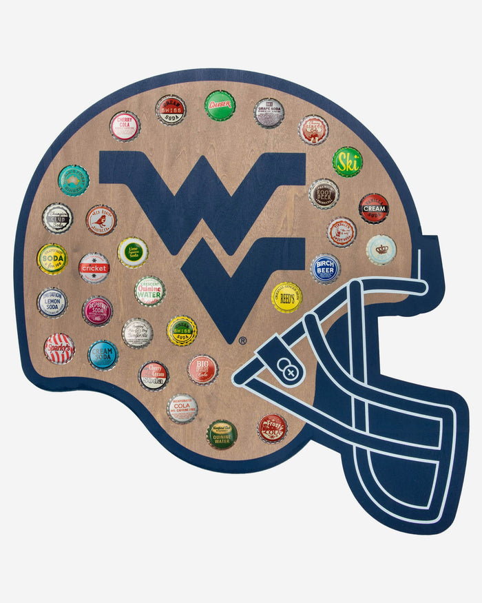 West Virginia Mountaineers Push Bottle Cap Wall Sign FOCO - FOCO.com