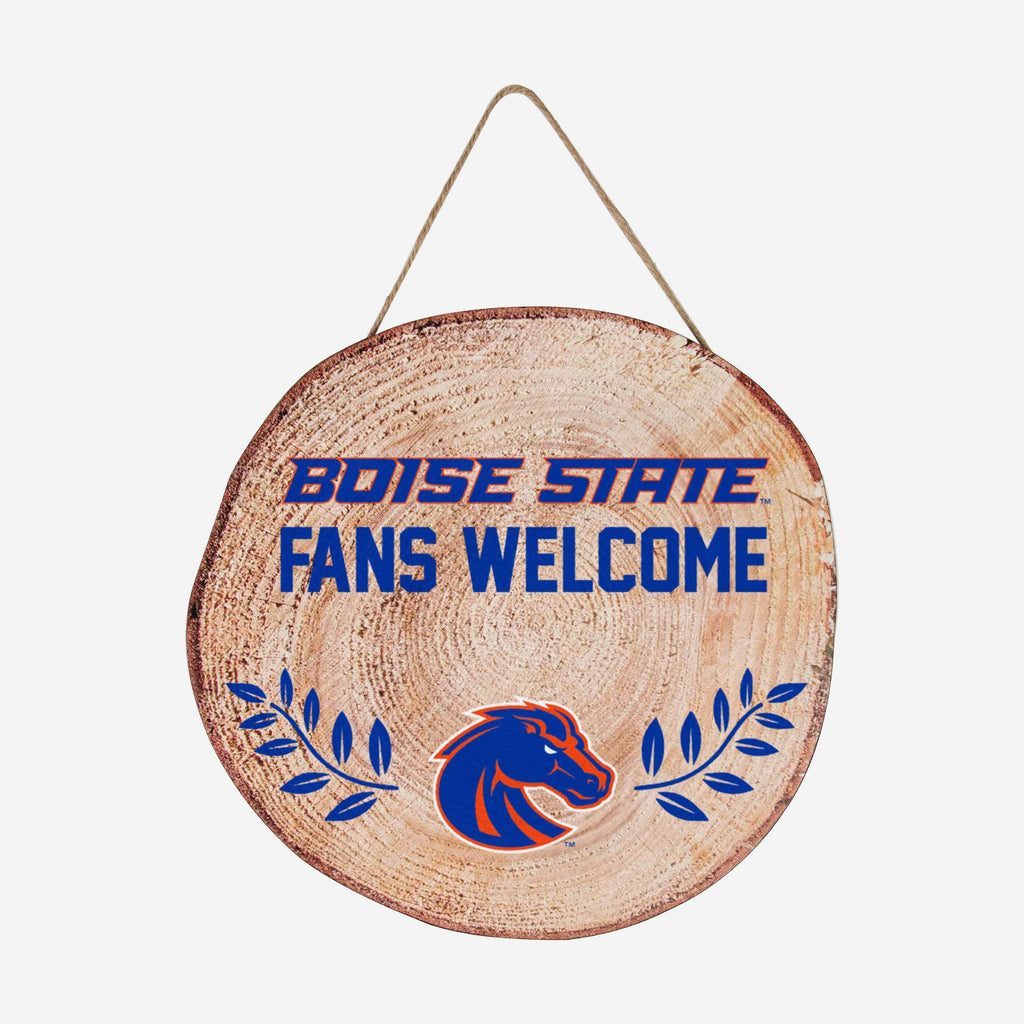 Boise State Broncos Wood Stump Sign FOCO - FOCO.com
