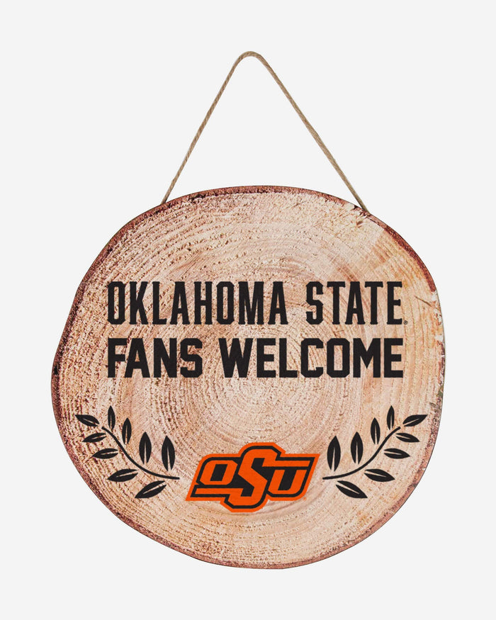 Oklahoma State Cowboys Wood Stump Sign FOCO - FOCO.com
