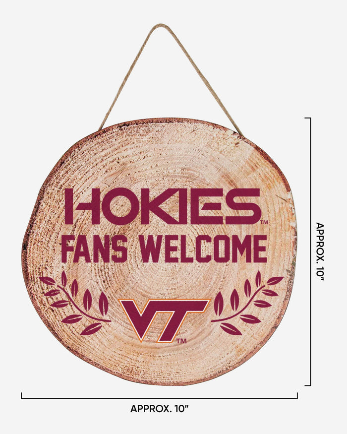 Virginia Tech Hokies Wood Stump Sign FOCO - FOCO.com