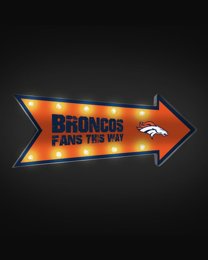 Denver Broncos Arrow Marquee Sign FOCO - FOCO.com