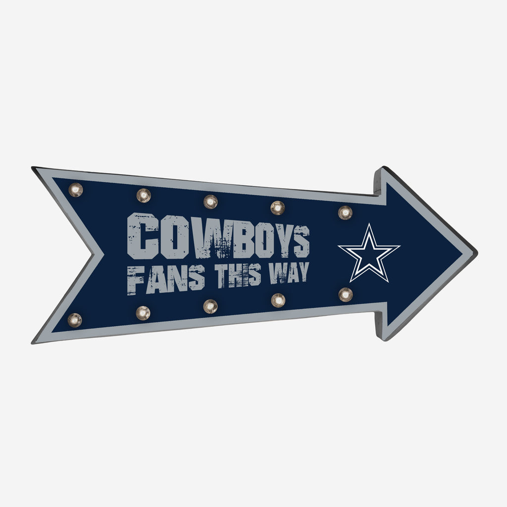 Dallas Cowboys Arrow Marquee Sign