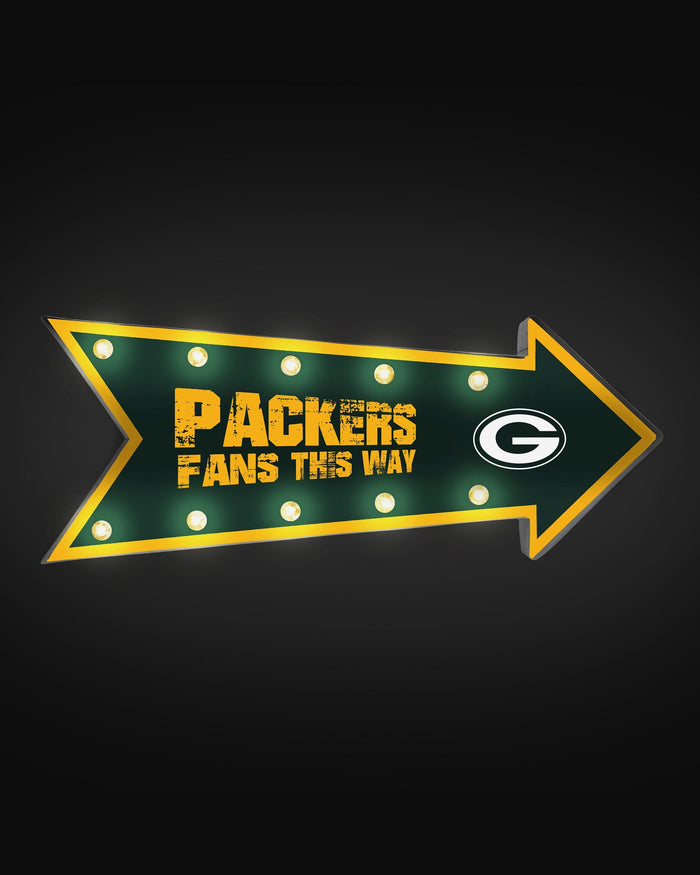 Green Bay Packers Arrow Marquee Sign FOCO - FOCO.com