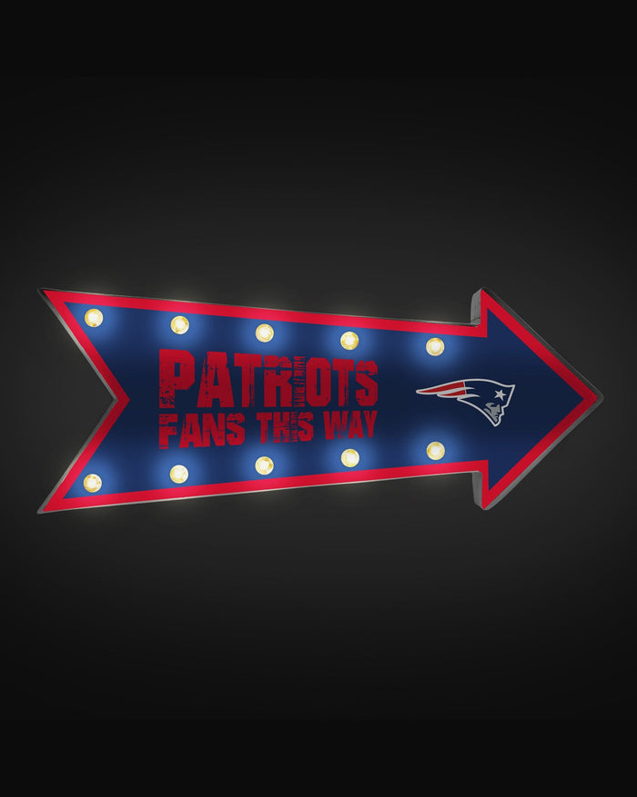 New England Patriots Arrow Marquee Sign FOCO - FOCO.com