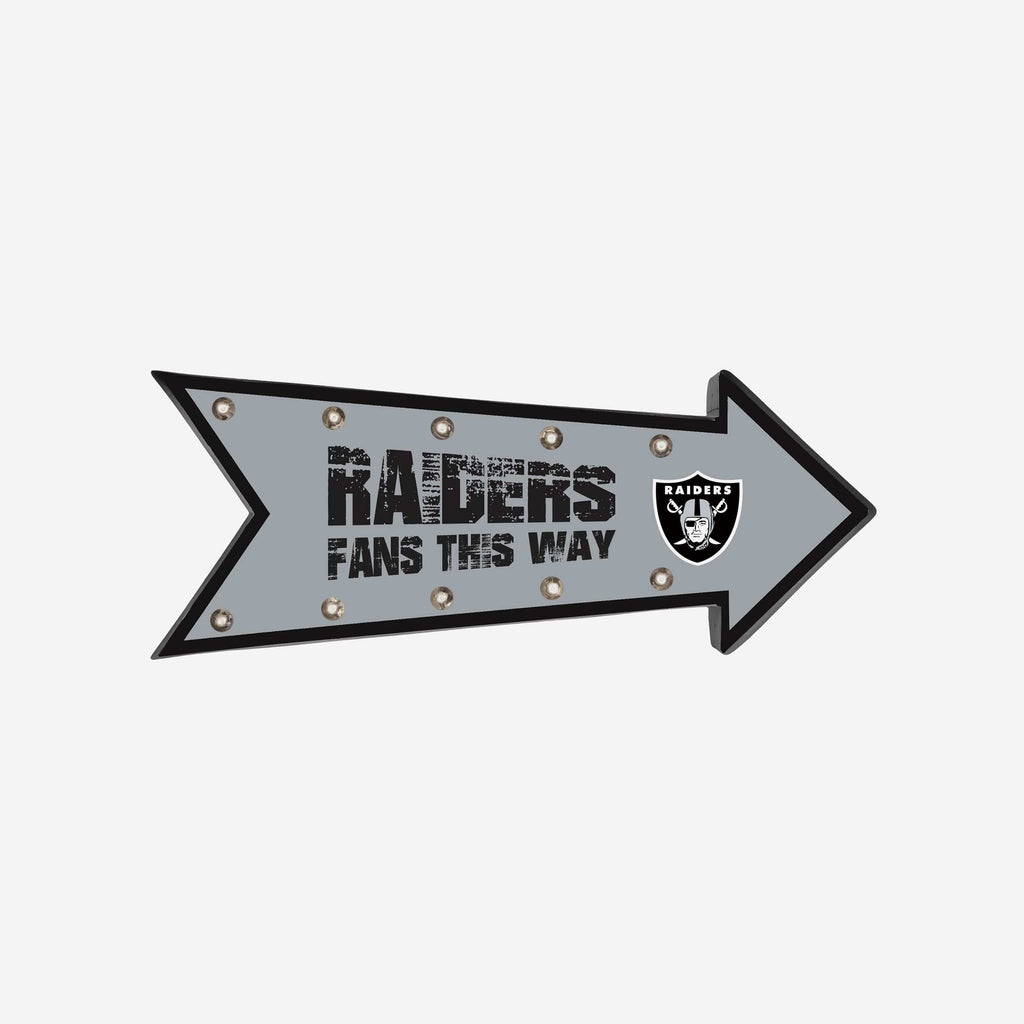 Oakland Raiders Arrow Marquee Sign FOCO - FOCO.com