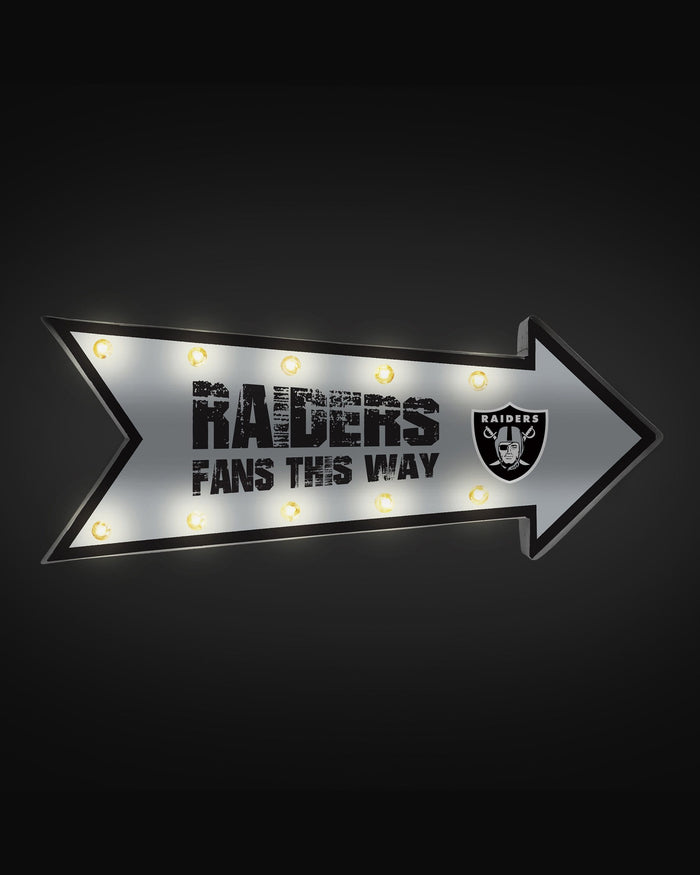 Las Vegas Raiders Arrow Marquee Sign FOCO - FOCO.com