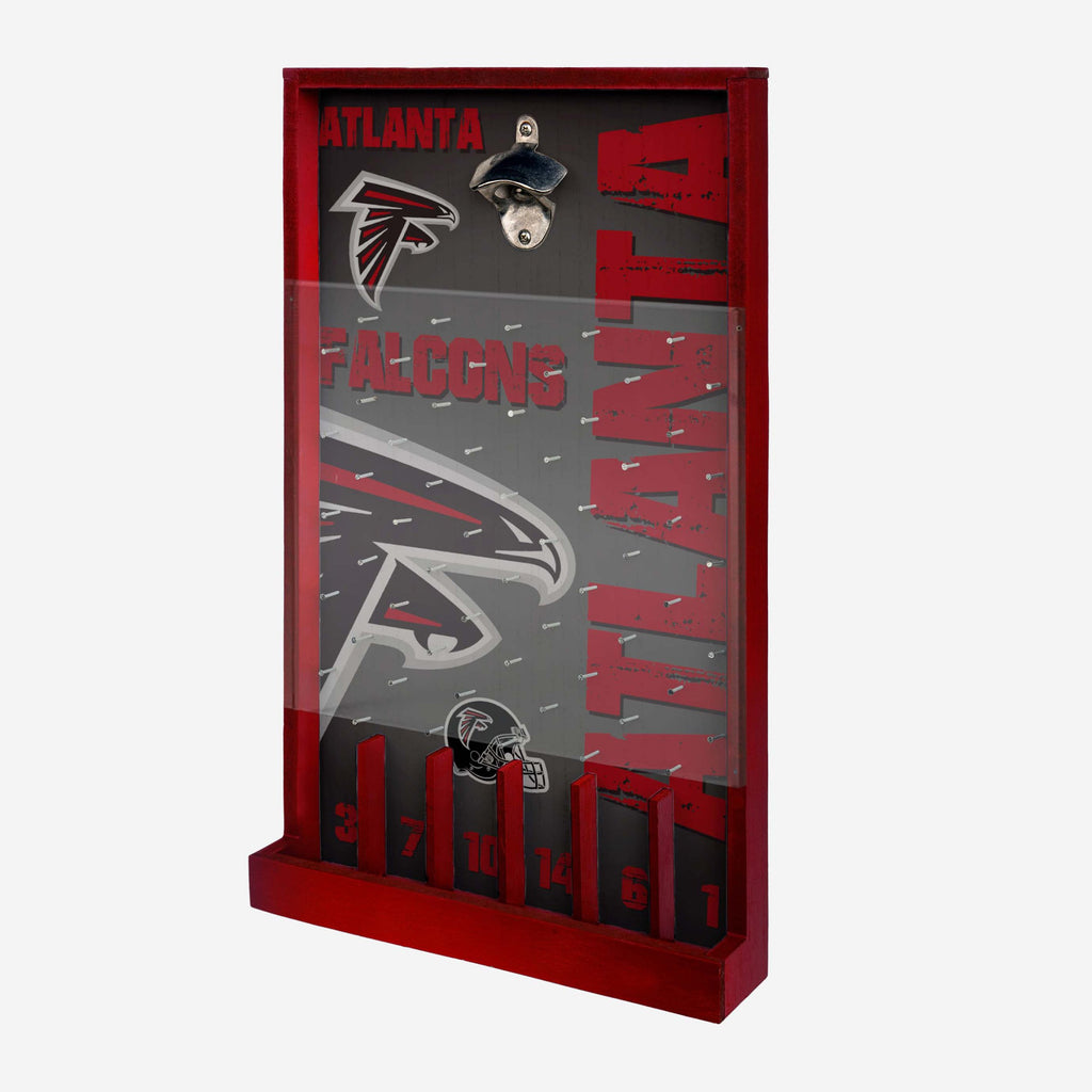 Atlanta Falcons Bottle Opener Sign Game