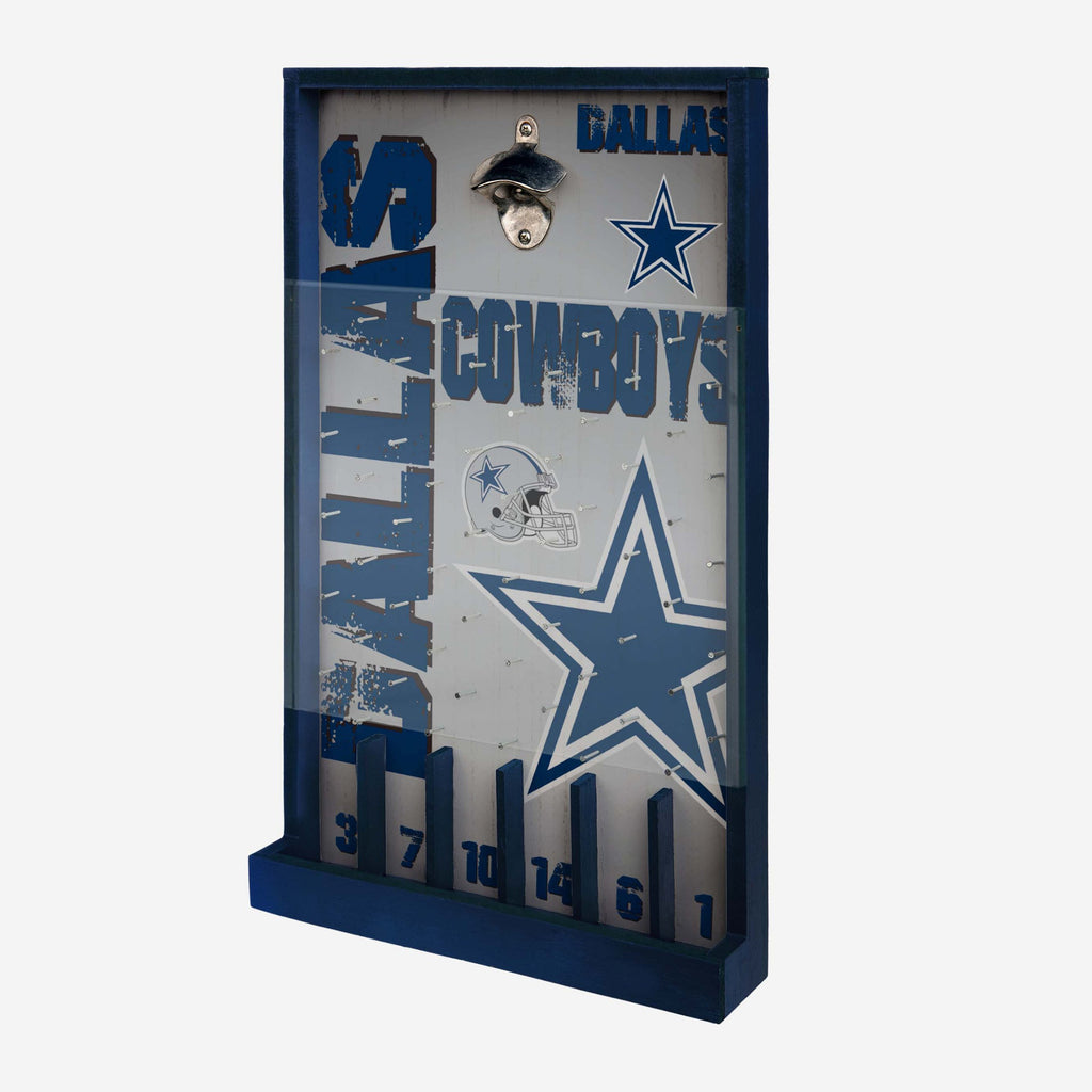 Dallas Cowboys Bottle Opener Sign Game