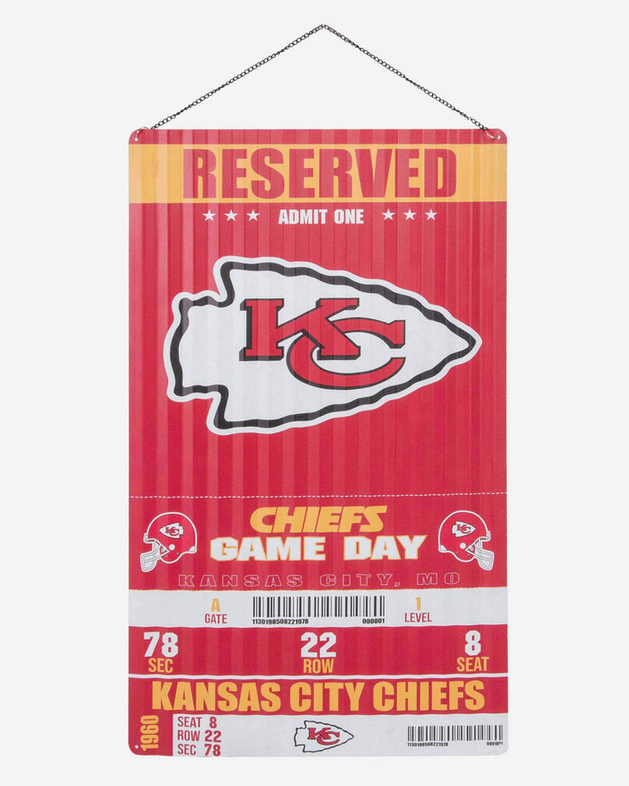Kansas City Chiefs Corrugated Metal Wall Sign FOCO - FOCO.com