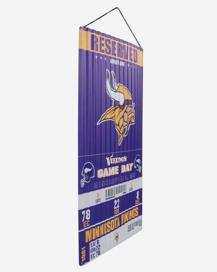 Minnesota Vikings Corrugated Metal Wall Sign FOCO - FOCO.com