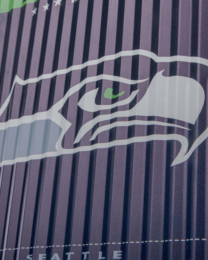 Seattle Seahawks Corrugated Metal Wall Sign FOCO - FOCO.com