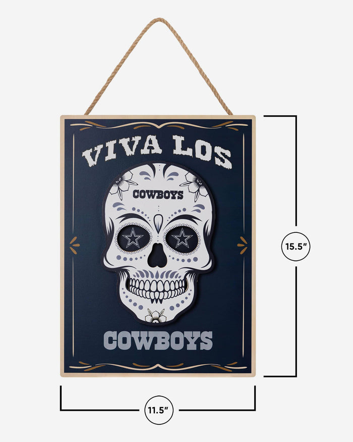 Dallas Cowboys Day Of The Dead LED Sign FOCO - FOCO.com