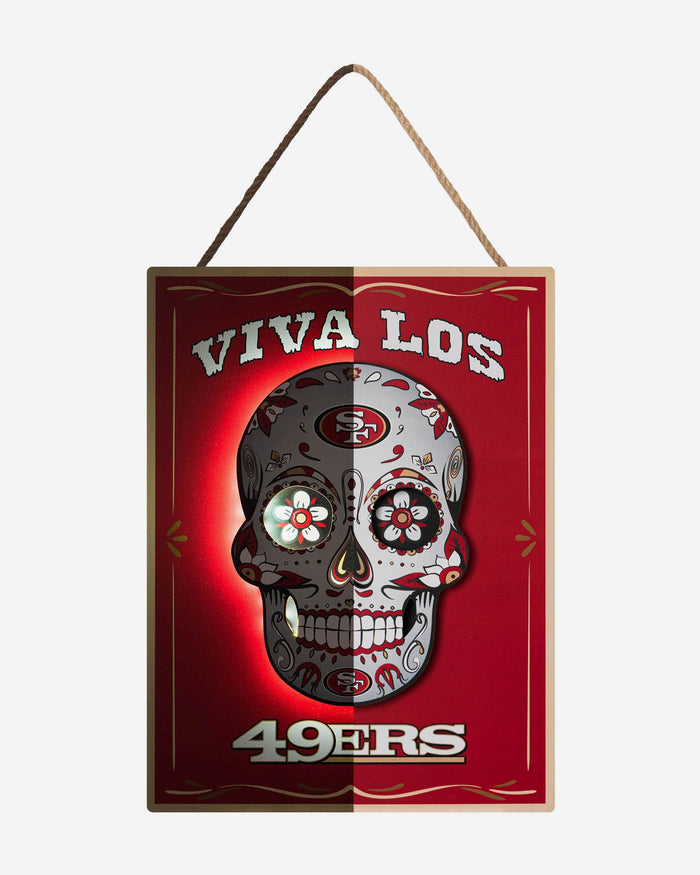 San Francisco 49ers Day Of The Dead LED Sign FOCO - FOCO.com