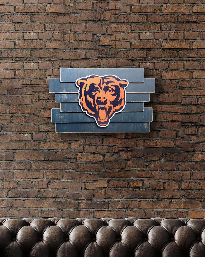Chicago Bears Staggered Wood Logo Sign FOCO - FOCO.com