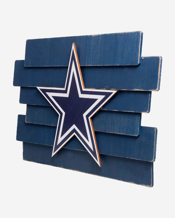 Dallas Cowboys Staggered Wood Logo Sign FOCO - FOCO.com