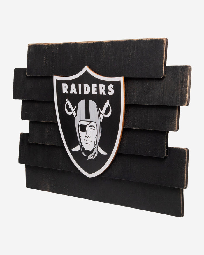 Las Vegas Raiders Staggered Wood Logo Sign FOCO - FOCO.com