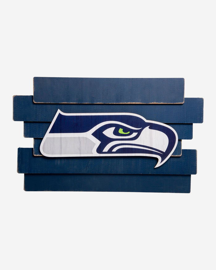 Seattle Seahawks Staggered Wood Logo Sign FOCO - FOCO.com