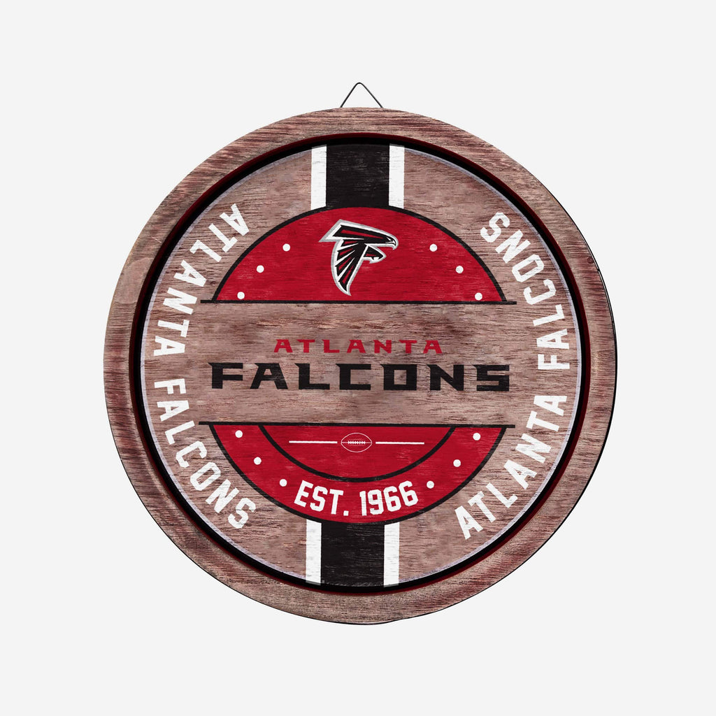 Atlanta Falcons Wooden Barrel Sign FOCO - FOCO.com
