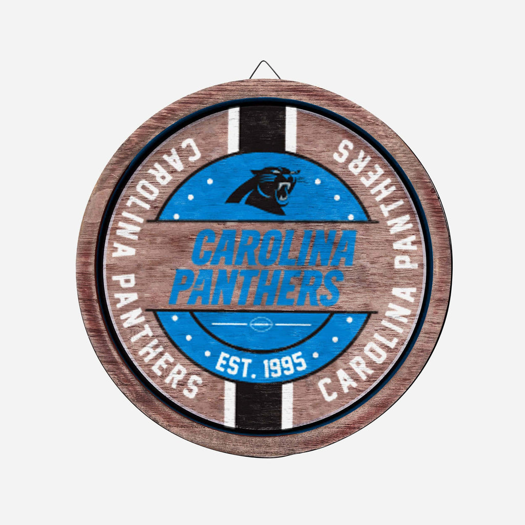 Carolina Panthers Wooden Barrel Sign FOCO - FOCO.com