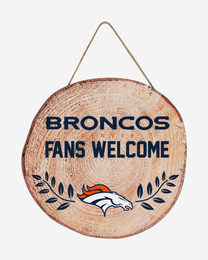 Denver Broncos Wood Stump Sign FOCO - FOCO.com