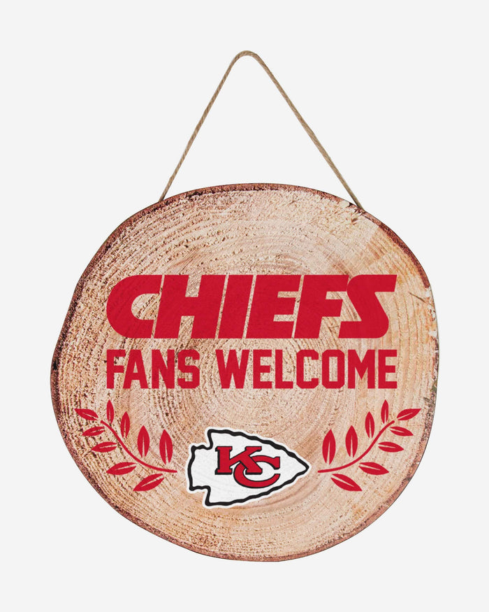 Kansas City Chiefs Wood Stump Sign FOCO - FOCO.com