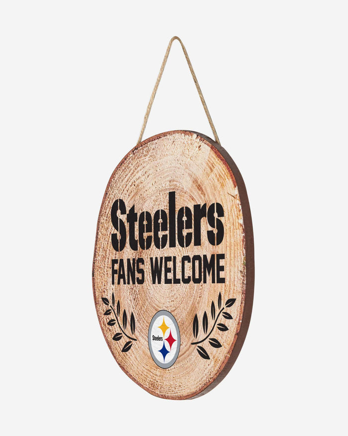 Pittsburgh Steelers Wood Stump Sign FOCO - FOCO.com