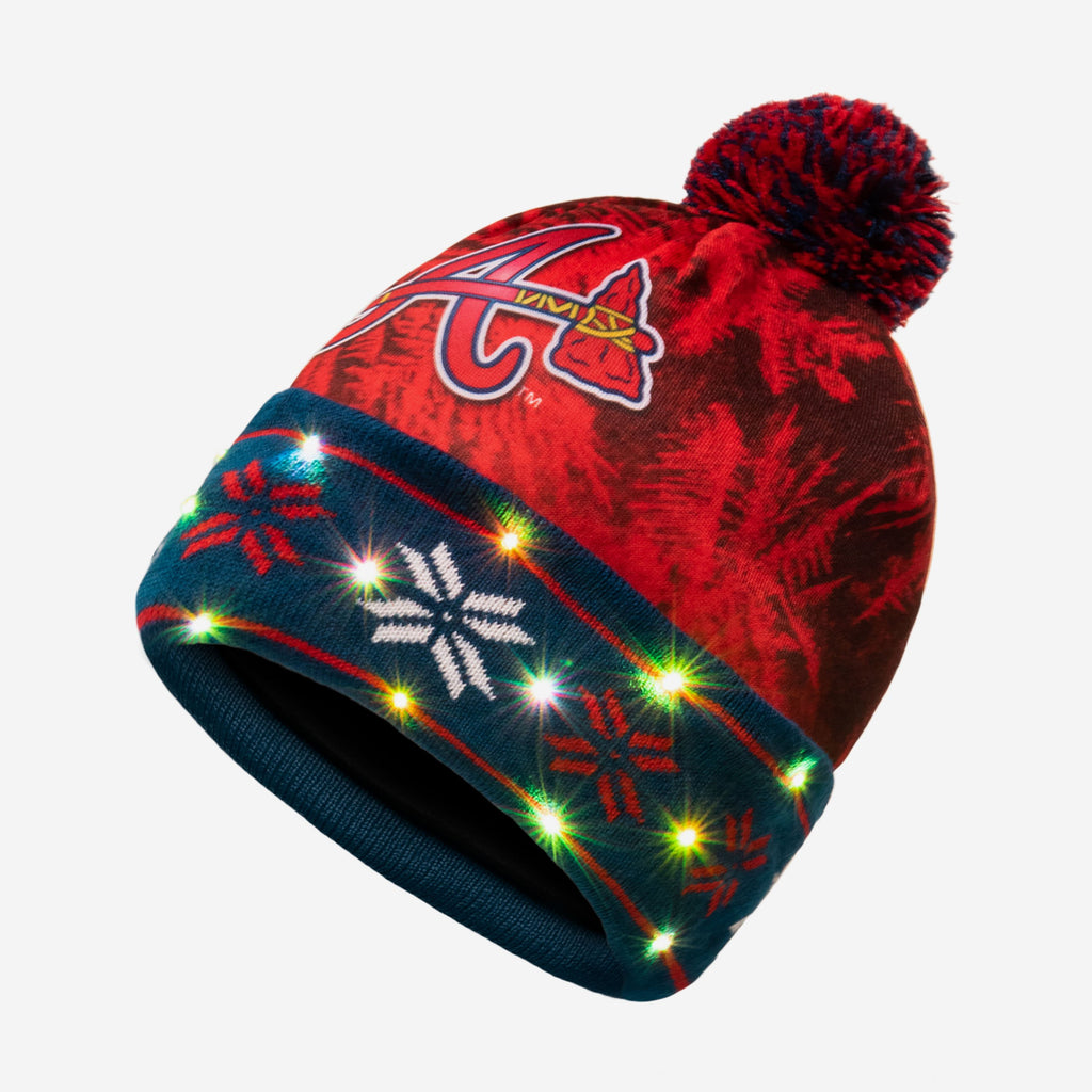 Atlanta Braves Big Logo Light Up Beanie FOCO - FOCO.com
