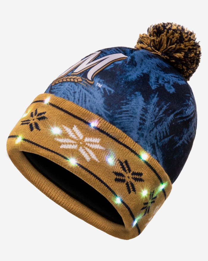 529e7e93 Milwaukee Brewers Big Logo Light Up Beanie
