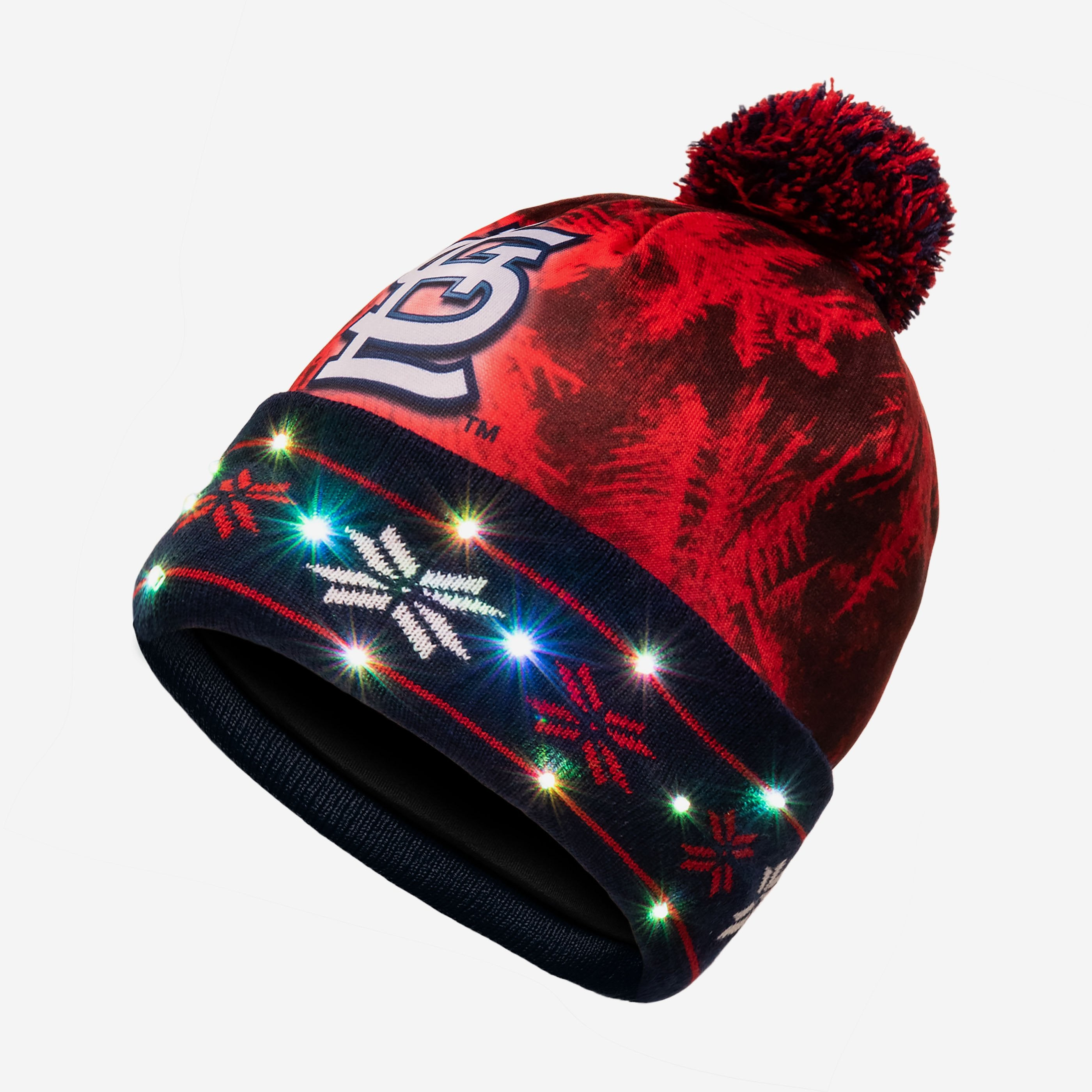 reputable site 3bfb0 6f026 St Louis Cardinals Big Logo Light Up Beanie FOCO.com