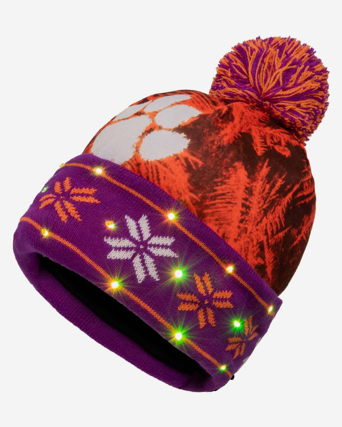 Clemson Tigers Big Logo Light Up Beanie FOCO - FOCO.com