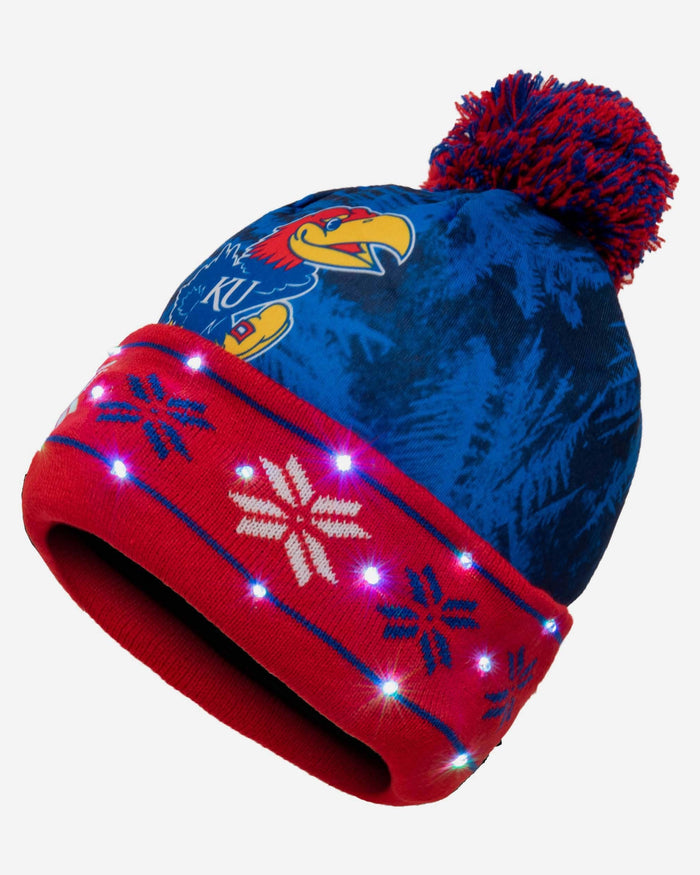 Kansas Jayhawks Big Logo Light Up Beanie FOCO - FOCO.com