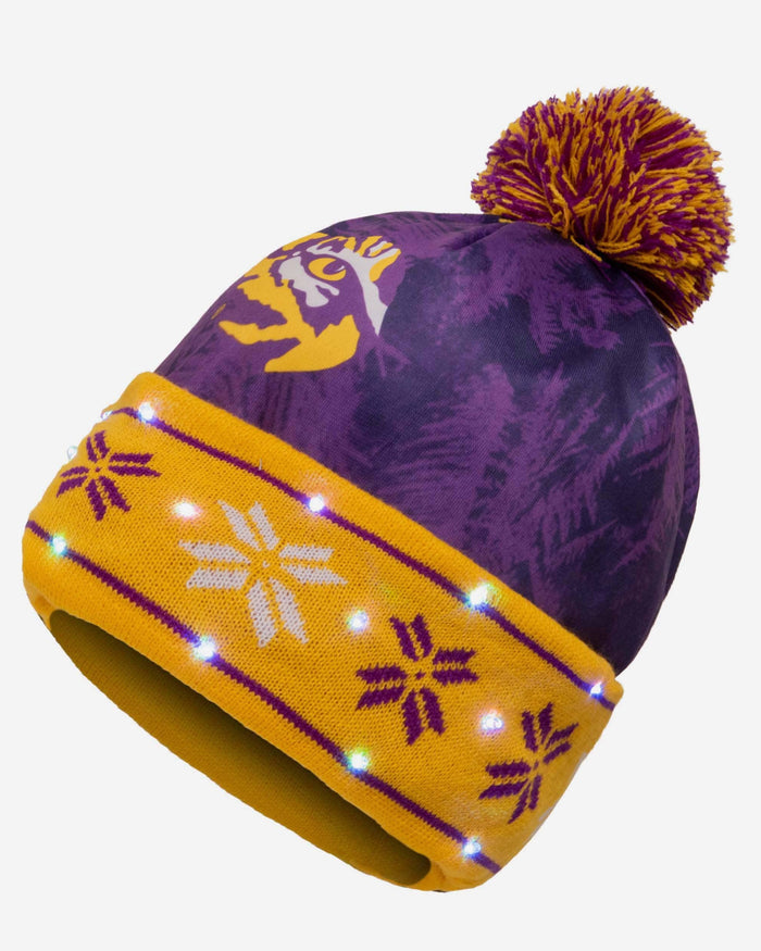 LSU Tigers Big Logo Light Up Beanie FOCO - FOCO.com