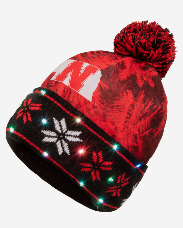Nebraska Cornhuskers Big Logo Light Up Beanie FOCO - FOCO.com