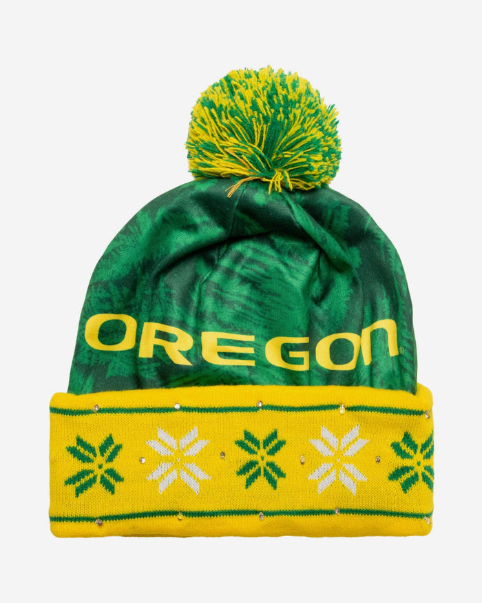 Oregon Ducks Big Logo Light Up Beanie FOCO - FOCO.com