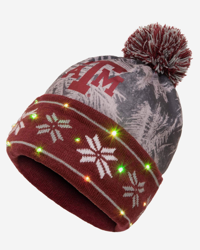 Texas A&M Aggies Big Logo Light Up Beanie FOCO - FOCO.com