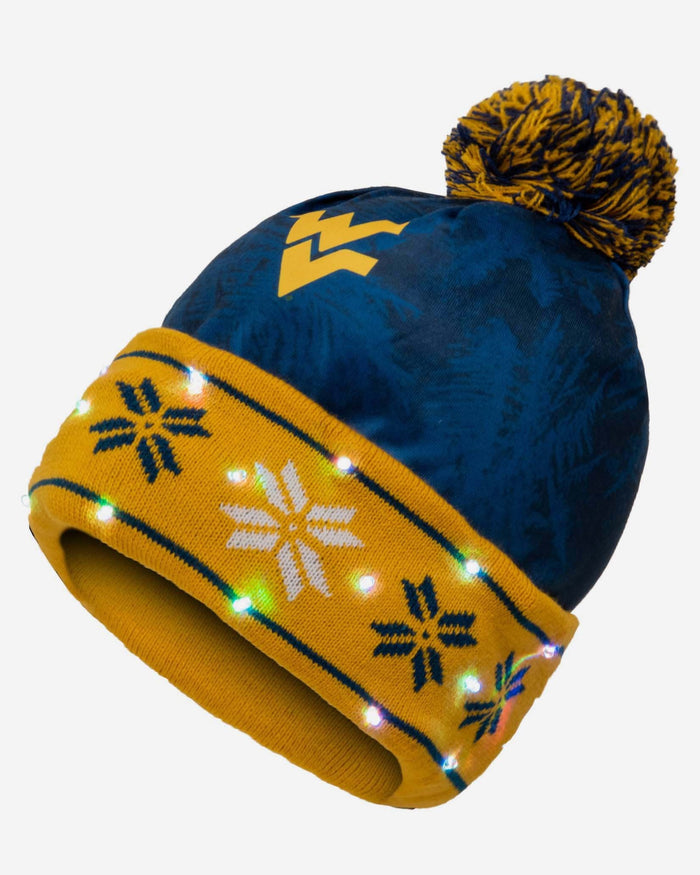 West Virginia Mountaineers Big Logo Light Up Beanie FOCO - FOCO.com