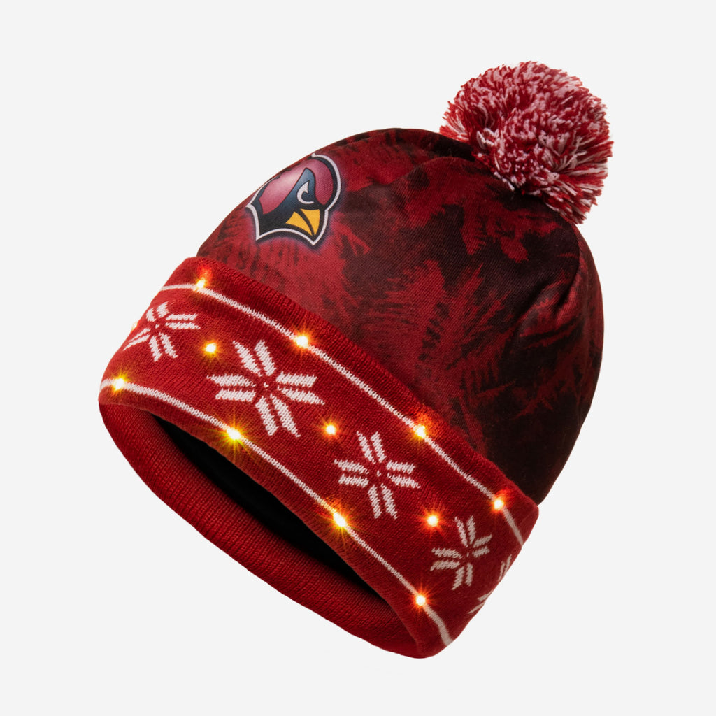 Arizona Cardinals Big Logo Light Up Beanie FOCO - FOCO.com