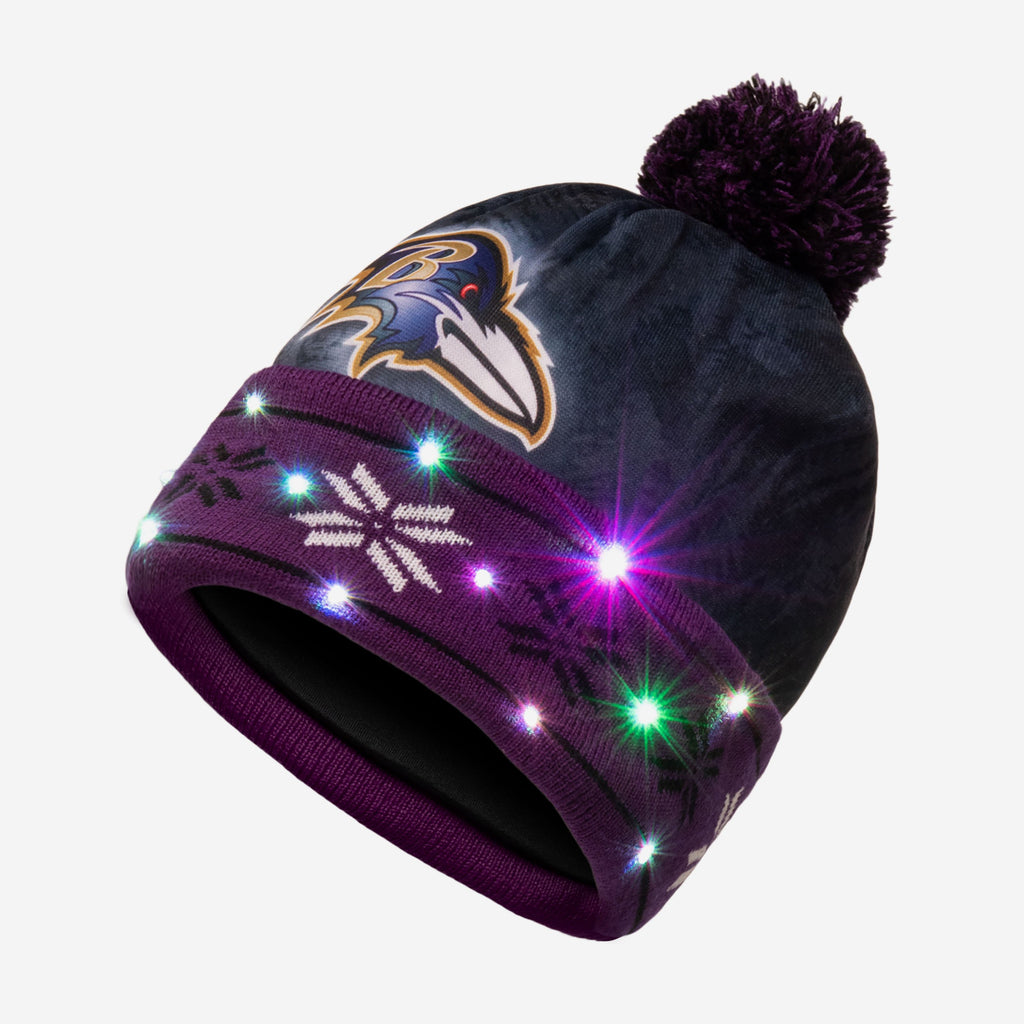 Baltimore Ravens Big Logo Light Up Beanie FOCO - FOCO.com