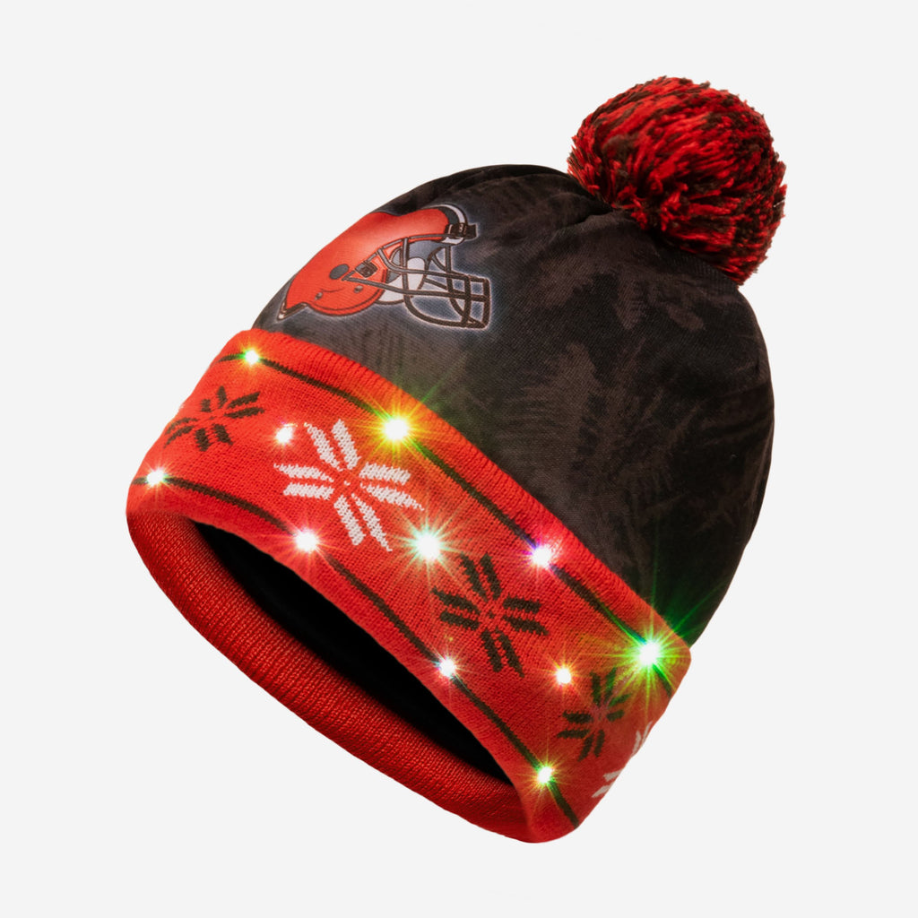 Cleveland Browns Big Logo Light Up Beanie FOCO - FOCO.com