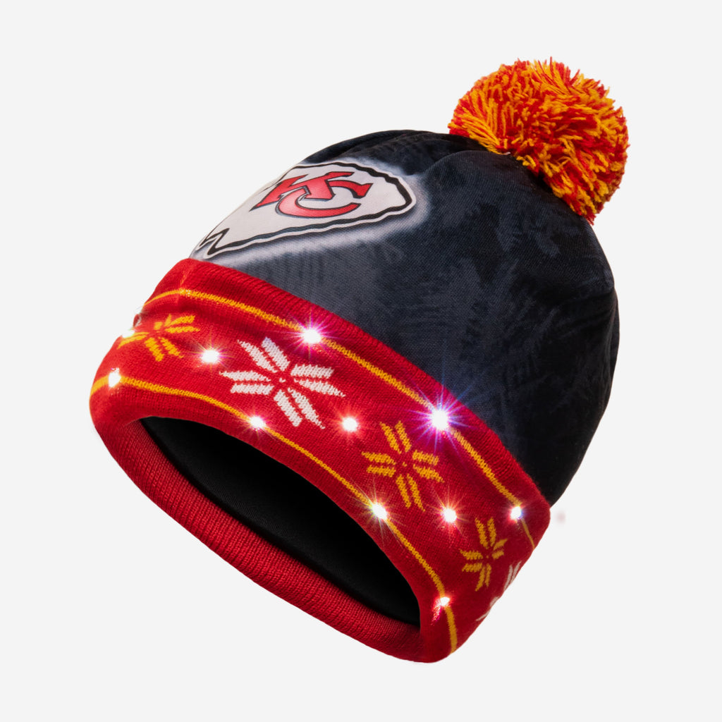Kansas City Chiefs Big Logo Light Up Beanie FOCO - FOCO.com