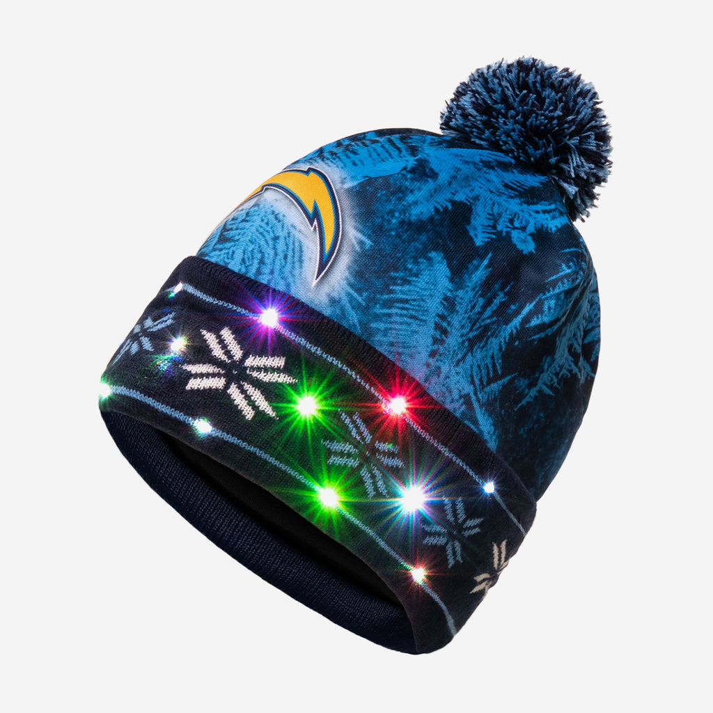 Los Angeles Chargers Big Logo Light Up Beanie FOCO - FOCO.com