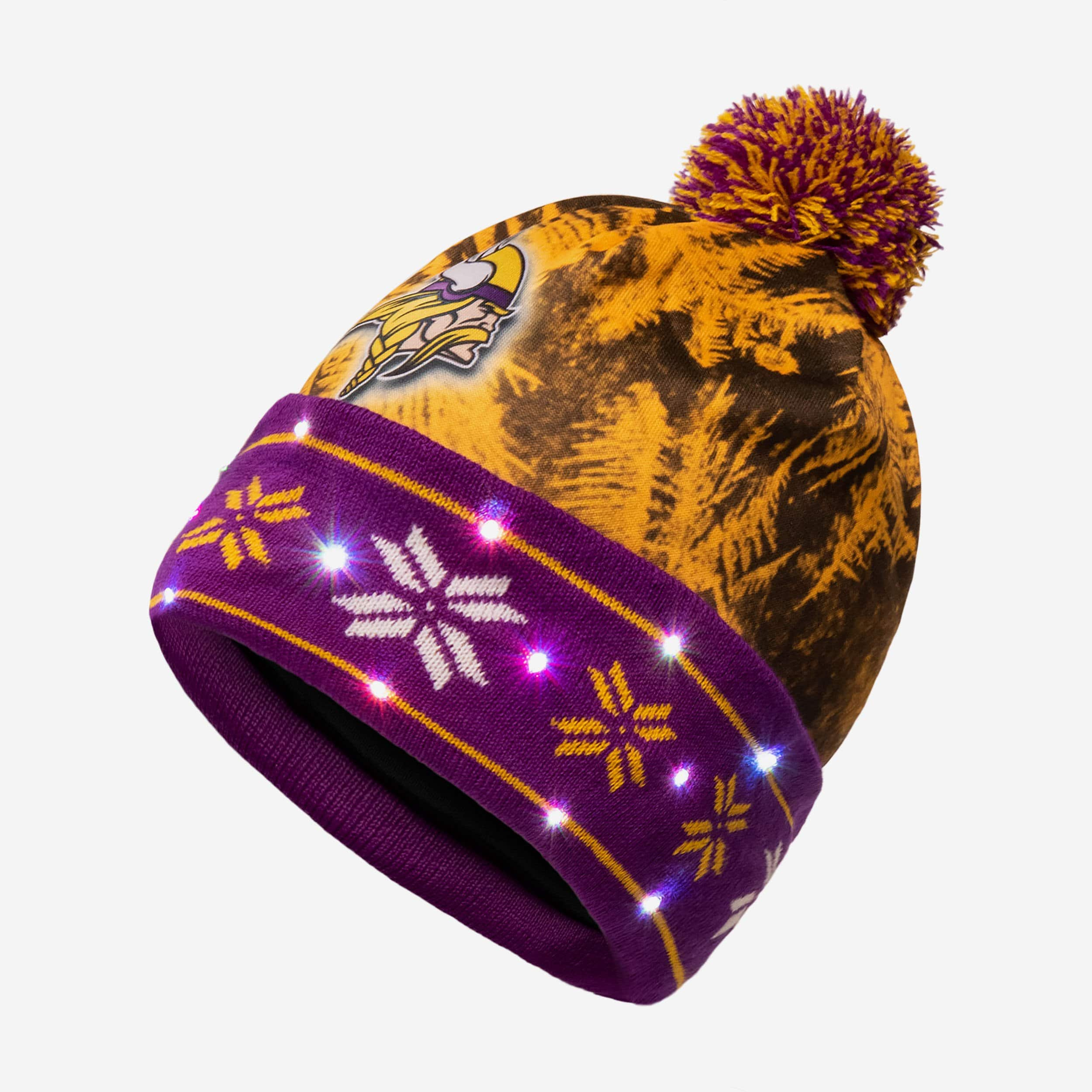 Minnesota Vikings Big Logo Light Up Beanie FOCO.com 5f2af2156
